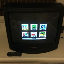 "Panasonic 20"" CT-20G8G T.V. W/ Original Remote Front & Rear Inputs For Gaming"