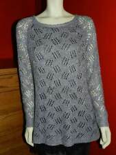 Women's A'REVE Grey & Black Sweater Tunic Dress Excellent Condition LARGE