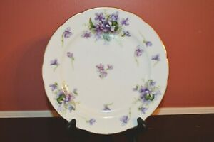 Rossetti SPRING VIOLETS Salad Plate  Made in Occupied Japan Handpainted Pretty!