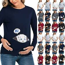 Women Maternity Casual Cute Fun 'Baby Loading' T Shirt Pregnant Tops Tee Clothes