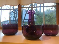 RARE Early 18ThC American Blown Amethyst Bowls and Vase