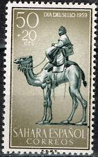 Spanish Sahara Mail Man on Camal Fauna  stamp 1959 MLH