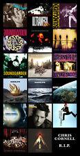"CHRIS CORNELL album discography magnet (6"" x 3.5"") soundgarden audioslave RIP"