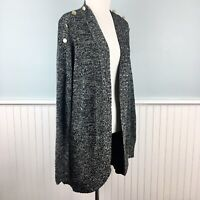 SIZE 2X Charter Club Womens Plus Gray Cocoon Open Cardigan Sweater Tunic NWT New