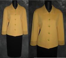 BEAUTIFUL St John collection jacket knit yellow suit blazer size 8