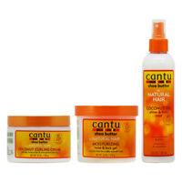 "Cantu Coconut Curling Cream+Twist & Lock Gel+Shine & Hold Mist ""Set"" w/Nail File"