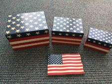 Patriotic Boxes 3 (Fit Inside Each Other) Patriotic Cast Flag to Match boxes