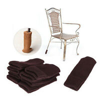 4X Chair Table Leg Knitting Wool Furniture Cover Sleeve Sock Floor Protector  G