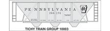 Tichy Train Group #10003S S Scale PRR H-30 Hopper Gray Car RR Roman Decal