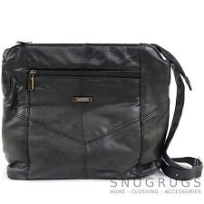 Ladies / Womens Soft Nappa Leather Shoulder / Across Body Bag