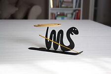 Serpente nero con piattino porta spirali antizanzare e incenso SpirHello®