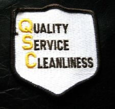 QUALITY SERVICE CLEANLINESS EMBROIDERED SEW ON PATCH QSC advertising uniform