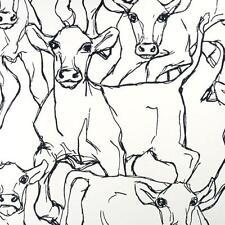 14106 - Marimekko Cows Black & White Galerie Wallpaper
