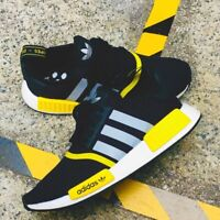 adidas Originals NMD R1 Men's Shoes Lifestyle Comfy Sneakers Black/Yellow