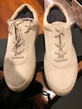 NWT YEEZY Season 6 'Chalk' Thick Shaggy Suede Crepe Sneakers Shoes 9/42