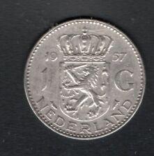 Nederland - 1 gulden - Juliana  - 1957 - silver  - 2 scans