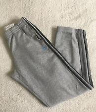 "Adidas Essential Light Grey Fleece Jogging Bottoms, Grey Size M ( L: 33"")"