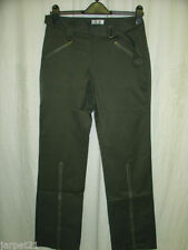 Straight Leg Cargos Mid Rise 30L Trousers for Women