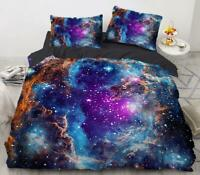 3D Purple Blue Starry Sky KEP6907 Bed Pillowcases Quilt Duvet Cover Kay