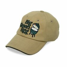 Big Green Egg Grill Tan Twill Base Ball Hat with Green Embroidered Logo TAN-HAT