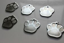 Pet Tags Paw LG 1.3 Inch ID Stainless Steel 2 Side Diamond Engrave Dog Name Tag
