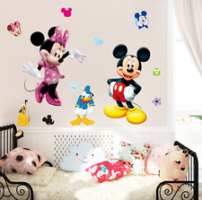 Mickey Minnie Mouse Decoración Habitación Niños dibujos animados de Disney Pared Adhesivo de pared Calcomanías UK