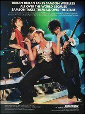Duran Duran Simon Le Bon 1987 Samson Wireless Mic ad 8 x 11 advertisement