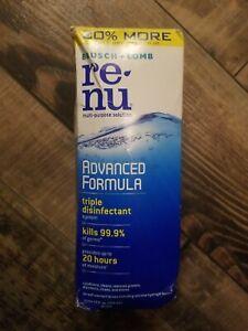 Renu contact lens solution. Advanced Formula, Triple Disinfectant 12 fl Oz