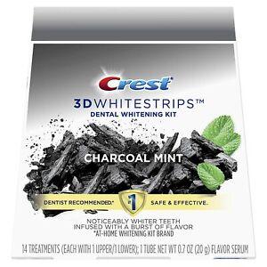 Crest 3D Whitestrips Charcoal Mint 28 Strips / 14 Treatments