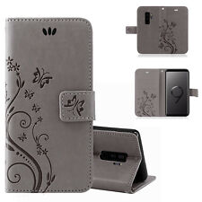 Samsung Galaxy S9+ Plus Handy Tasche Handyhülle Wallet Schutz Hülle Blumen Cover