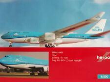 """Herpa Wings 1:500 529921-001  KLM B747-400 """"City of Nairobi"""" PH-BFN"""