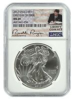 2017 1oz Silver American Eagle NGC MS69 First Day Issue  Liberty Coin Act Label