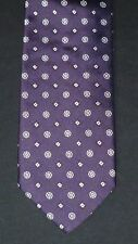 Altea Purple & Silver Diamonds & Wheels THICK Silk Tie, MI Italy