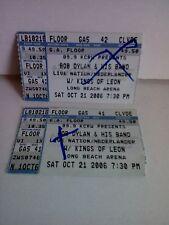 Bob Dylan Ticket Stubs Oct. 21, 2006 Long Beach Arena, Long Beach, CA