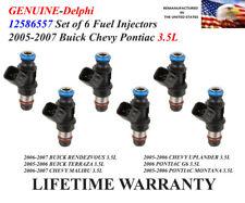 GENUINE Delphi Set of 6 Fuel Injectors For 2006-2007 Chevy Uplander 3.5L V6