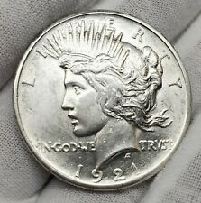 1921 HIGH RELIEF PEACE SILVER DOLLAR $1  - RAW - CAPSULE