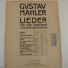 vocal GUSTAV MAHLER Revlege C moll mittel