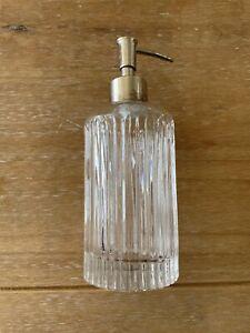 Laura Ashley Glass Soap Dispenser X2