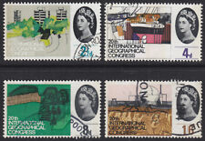 1964 GEOGRAPHICAL CONGRESS PHOSPHOR SET OF 4 SG651P/654P FINE USED