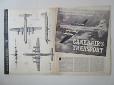 ARTICLE 4 PAGES CUTAWAY ECORCHE CANADAIR CC-106 RCAF TRANSPORT COMMAND CANADA
