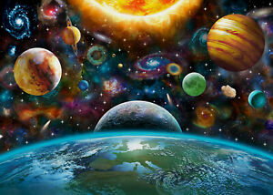 7x5ft Colorful Universe Solar System Planets Vinyl Backdrop Photo Background LB