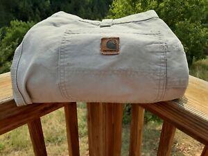 Carhartt Mens Cargo Work Pants Jeans Tan Size 38 x 34