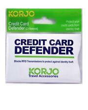 2x Korjo Anti-RFID Credit Card Protector Sleeve Blocking Scan Identity ID Theft