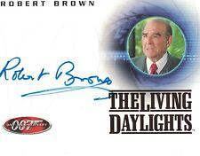 James Bond 40th Anniversary: A18 Robert Brown (M) autograph