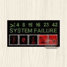 Lost System Failure Patch Desmond Hume Computer Dharma Initiative Embroidered
