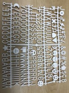 Letters For Sign Message Board 510 Pieces 7/8 Inch Tall