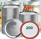 200 Count Regular Mouth Canning Lids OGPIGGJA Food Grade Material Split-Type ...