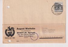 Bizone/Band-Netzaufdruck,Mi. 40I EF, (Beber) Kr. Springe, 21.8.48