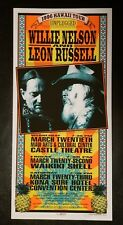 Mark Arminski Signed Willie Nelson Leon Russell Hawaii Tour Poster 1996