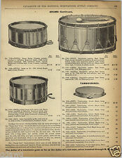 1892 PAPER AD Vintage Snare Bass Drums Tambourines Castanets Xylophone Ocarinas